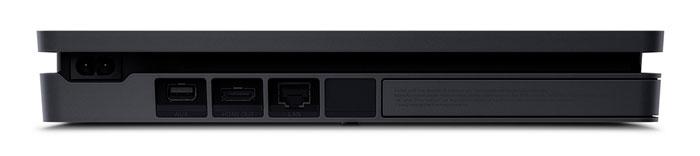 نمایی از قسمت پشتی کنسول بازی Playstation 4 Slim